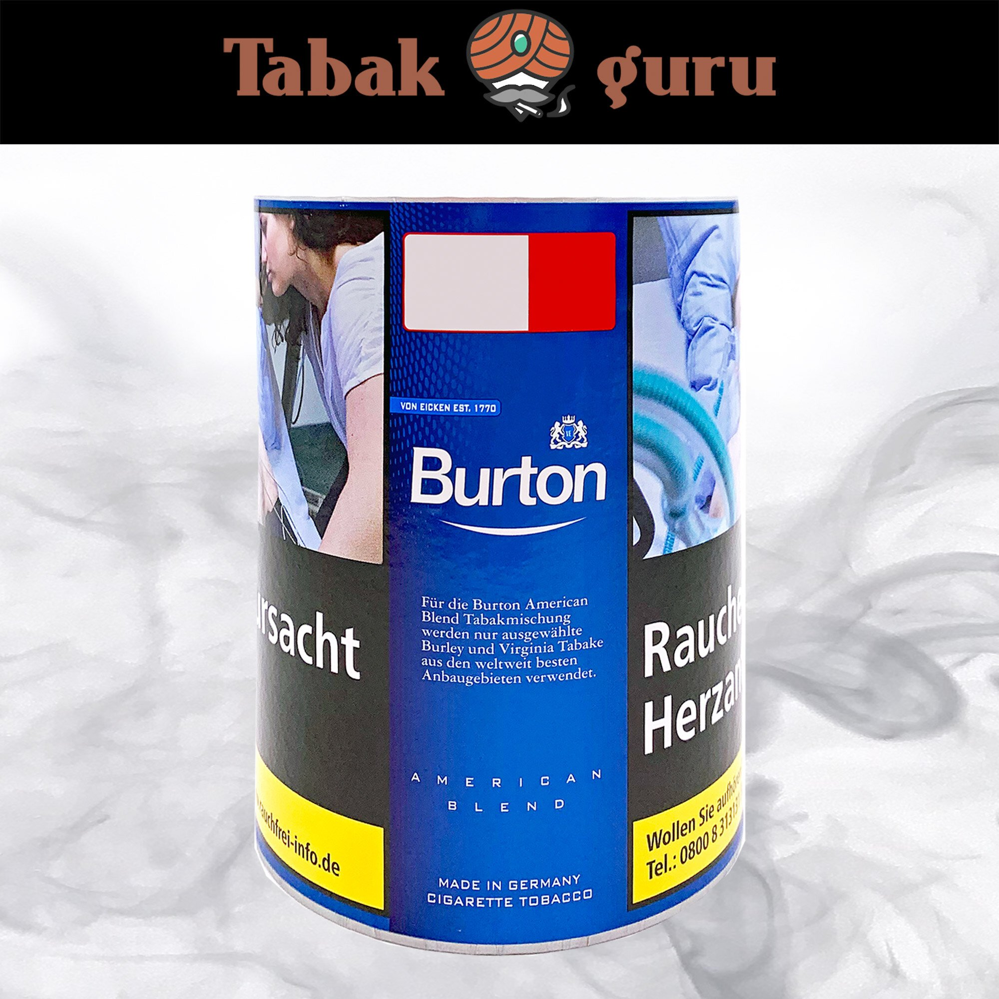 Burton Blue / Blau Feinschnitt Tabak Dose 120g