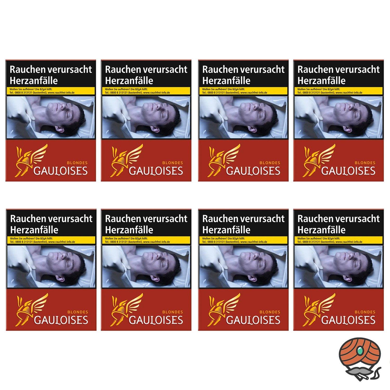 1 Stange Gauloises Blondes Rouge / Rot Zigaretten XXL Schachtel 8x23 Stück