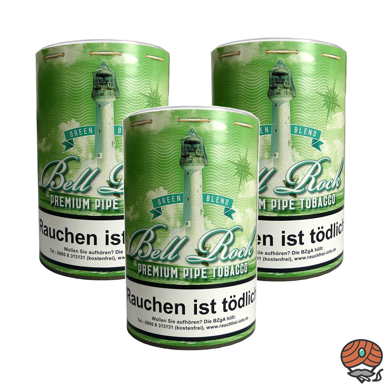 3 x Bell Rock Green Blend / Menthol Pfeifentabak 160 g Dose