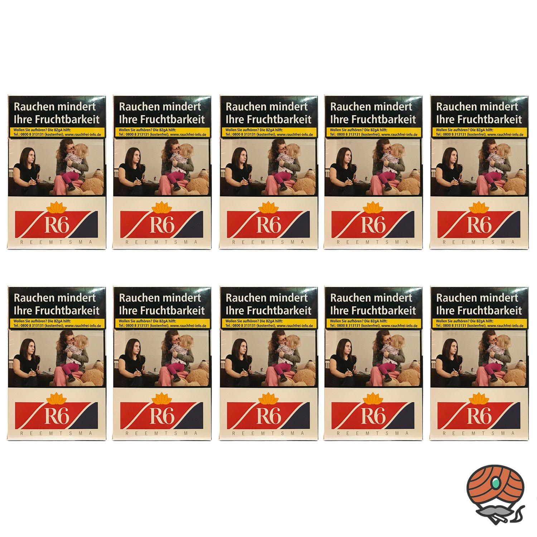 1 Stange R6 Zigaretten (Reemtsma No. 6) 10x20 Stück