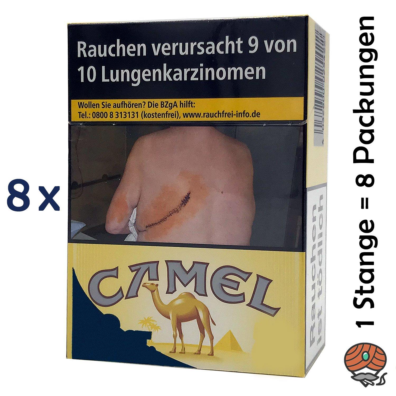 1 Stange Camel Yellow Zigaretten XXL Packung 8x26 Stück