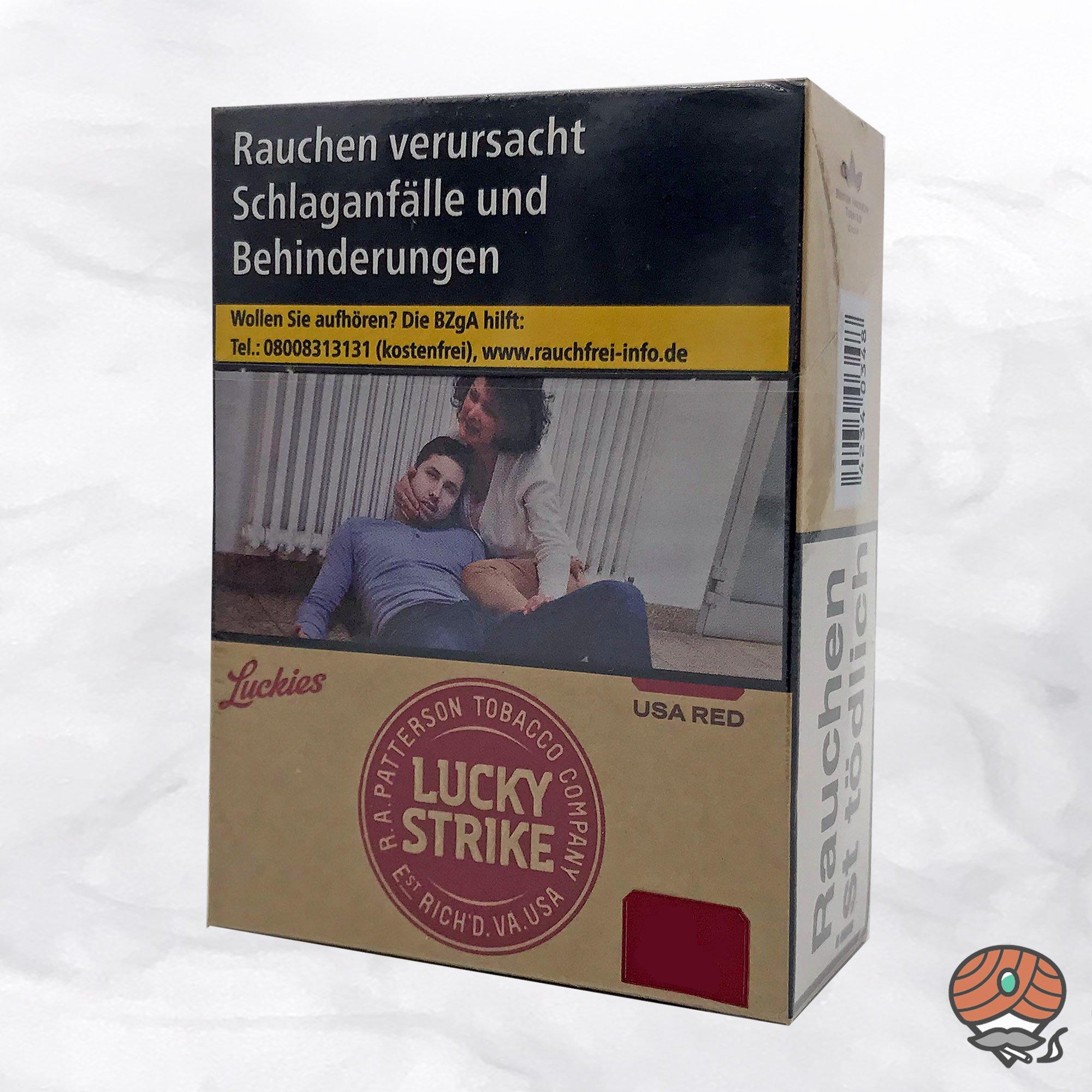 Lucky Strike Authentic Red Zigaretten ohne Zusätze Inhalt 24 Stück