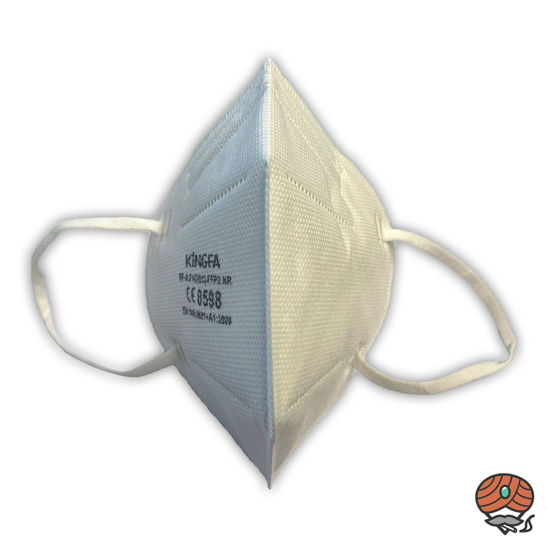 Kingfa FFP2-Maske, CE 0598 zertifiziert, Partikelfilter-Halbmaske FFP2