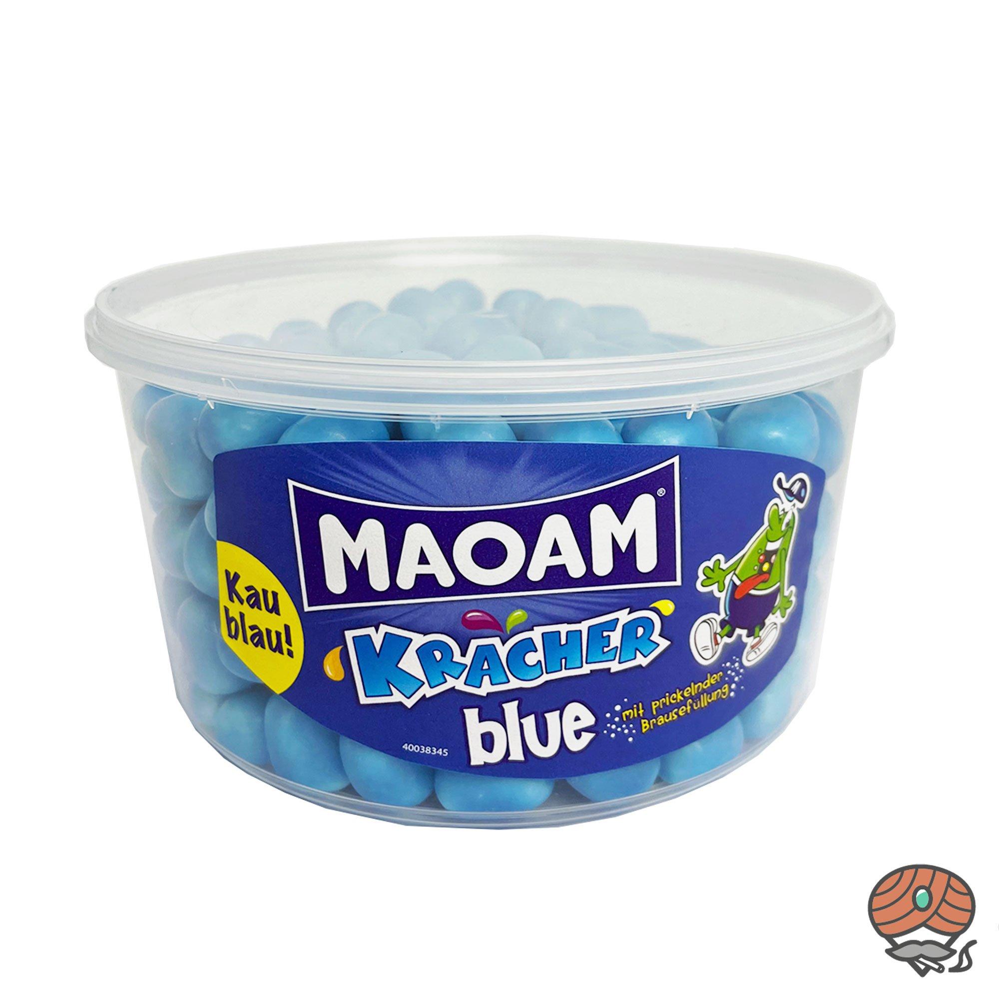 MAOAM Kracher blue Kaudragees mit prickelnder Brausefüllung