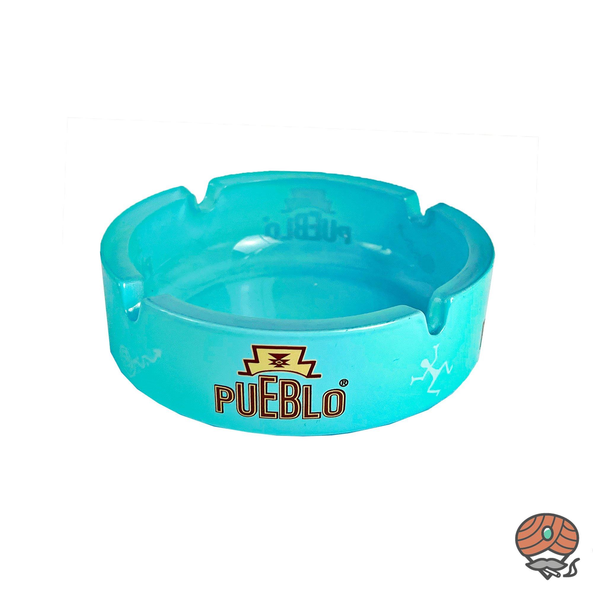 Pueblo Glas - Aschenbecher hellblau