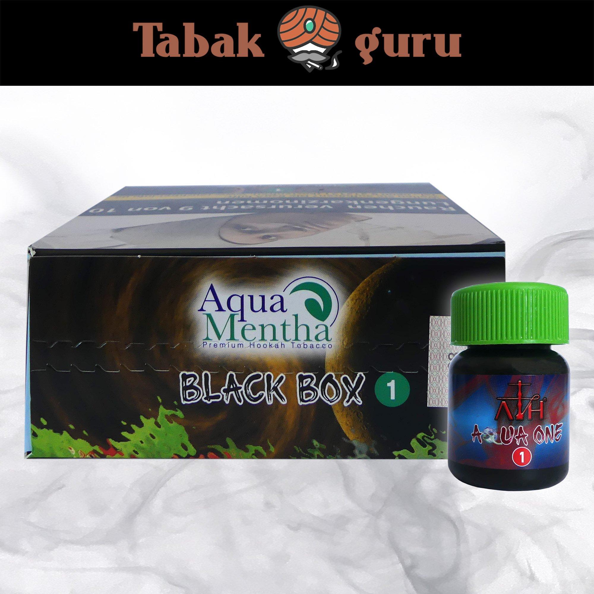 Aqua Mentha BLACK BOX #1 200g Shisha Tabak + ATH Aqua One Mix