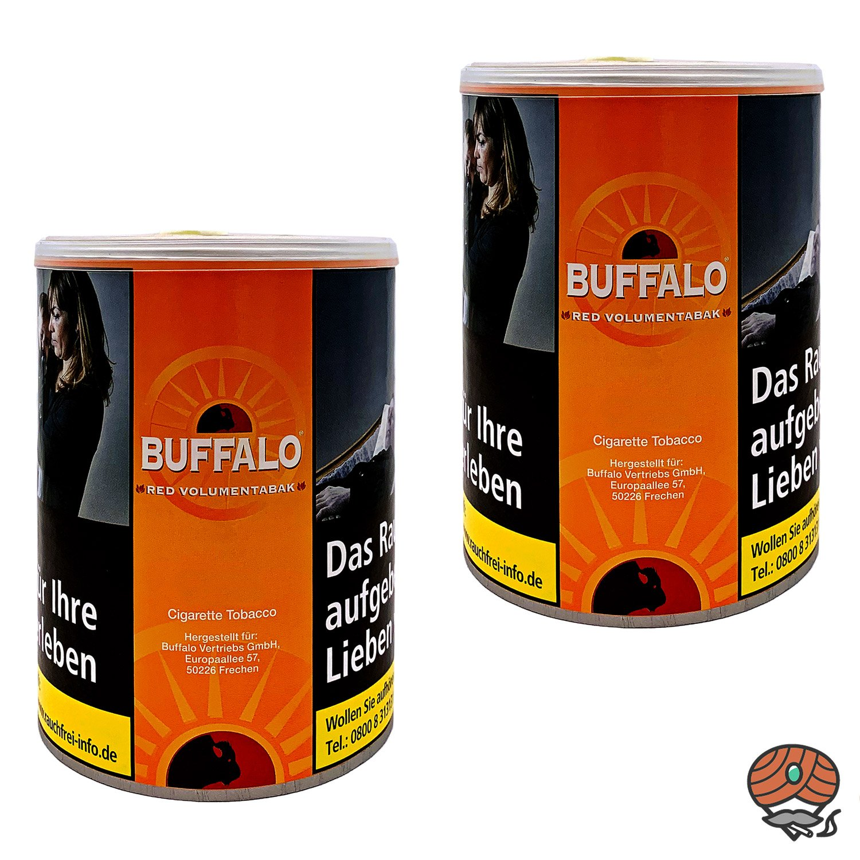 2x Buffalo Red / Rot Volumentabak Dose à 75g