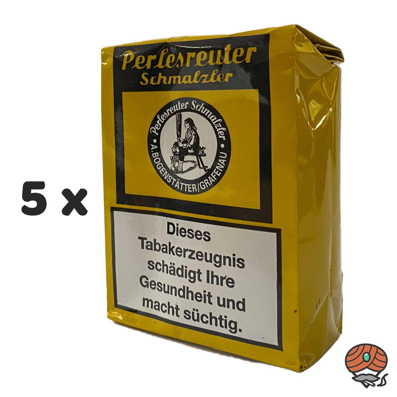 5 x Perlesreuter Schmalzler Schnupftabak 100g von Pöschl