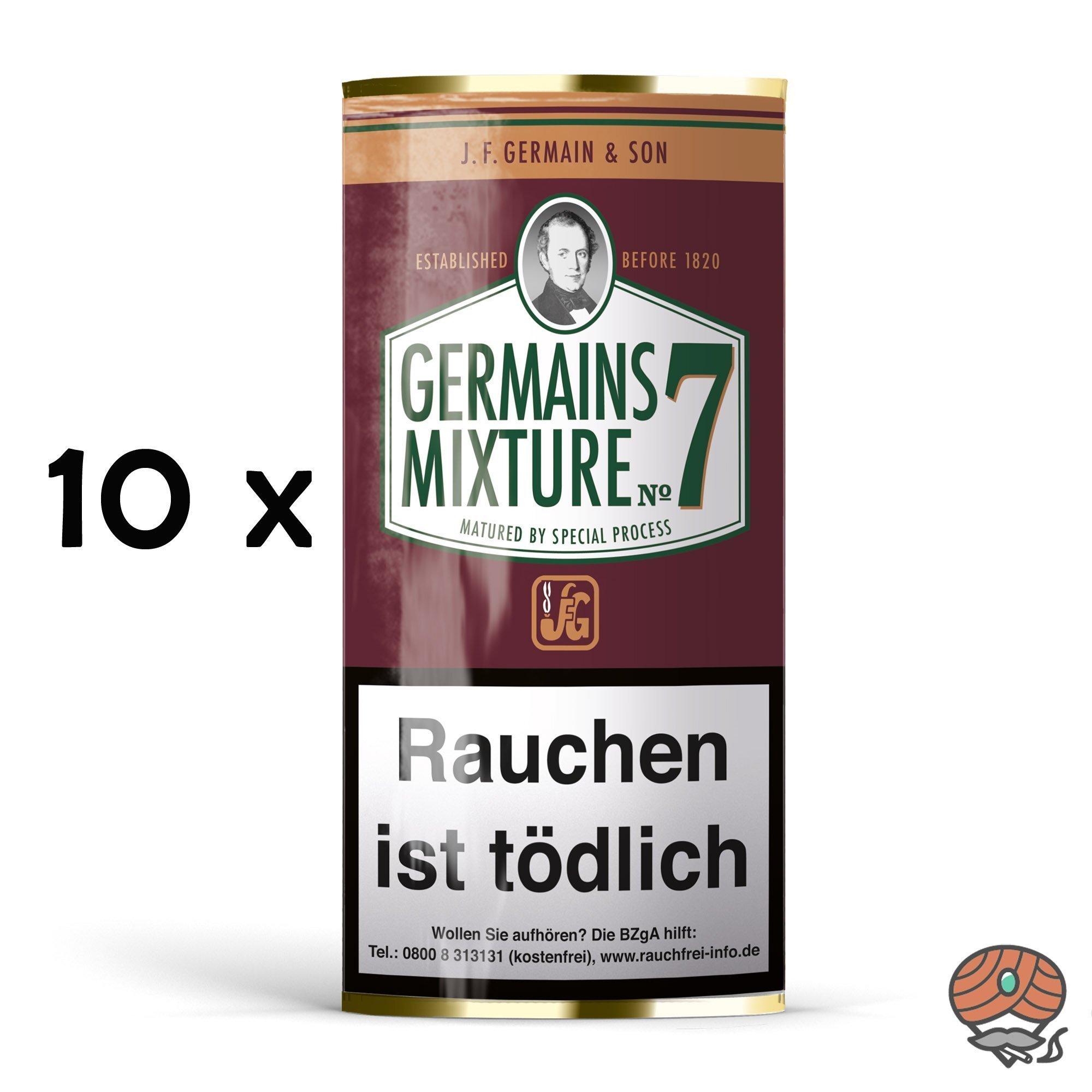 10 x Germain´s Mixture No.7 Pfeifentabak 50 g Pouches