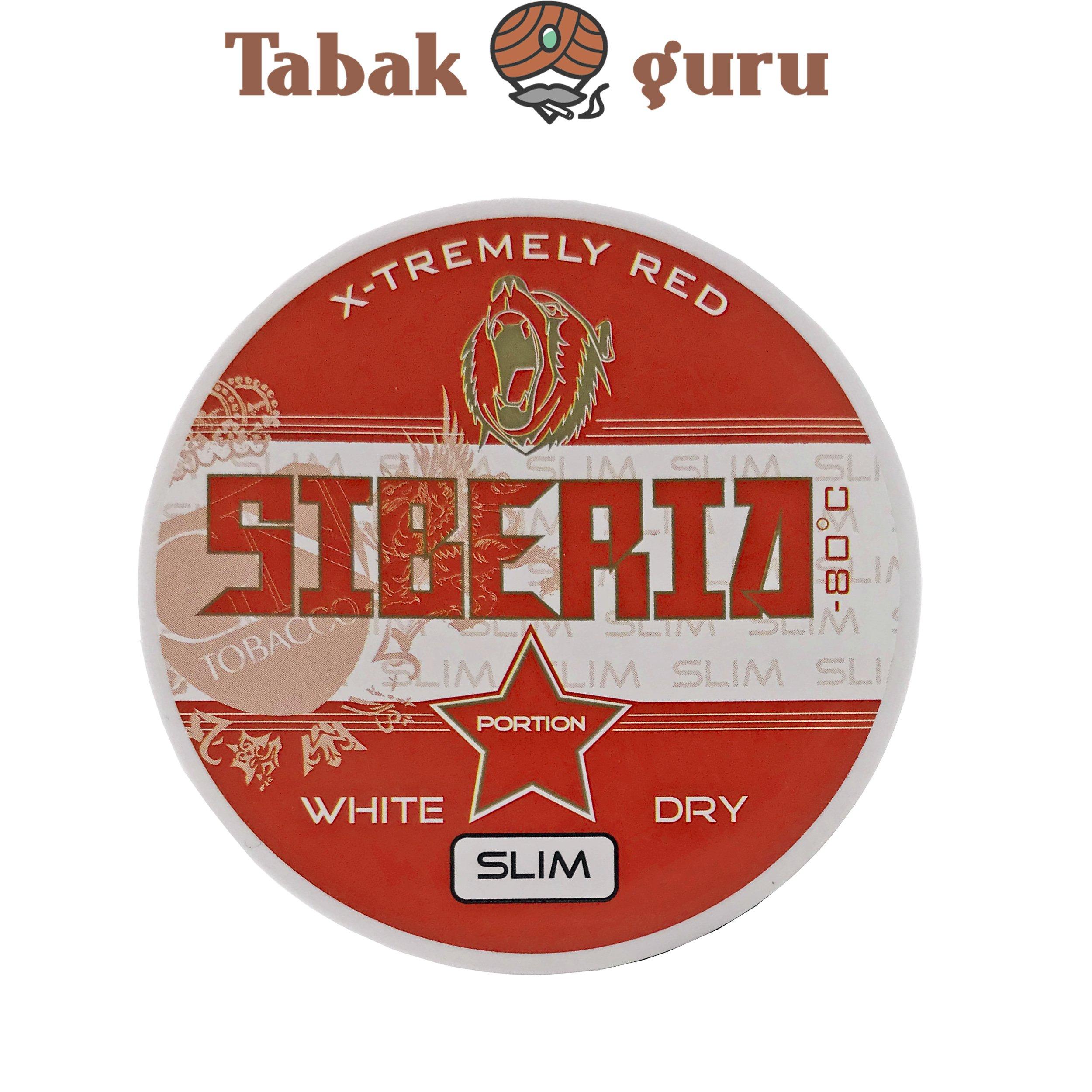 Siberia 80° Extremely Red White Dry Slim Kautabak Dose