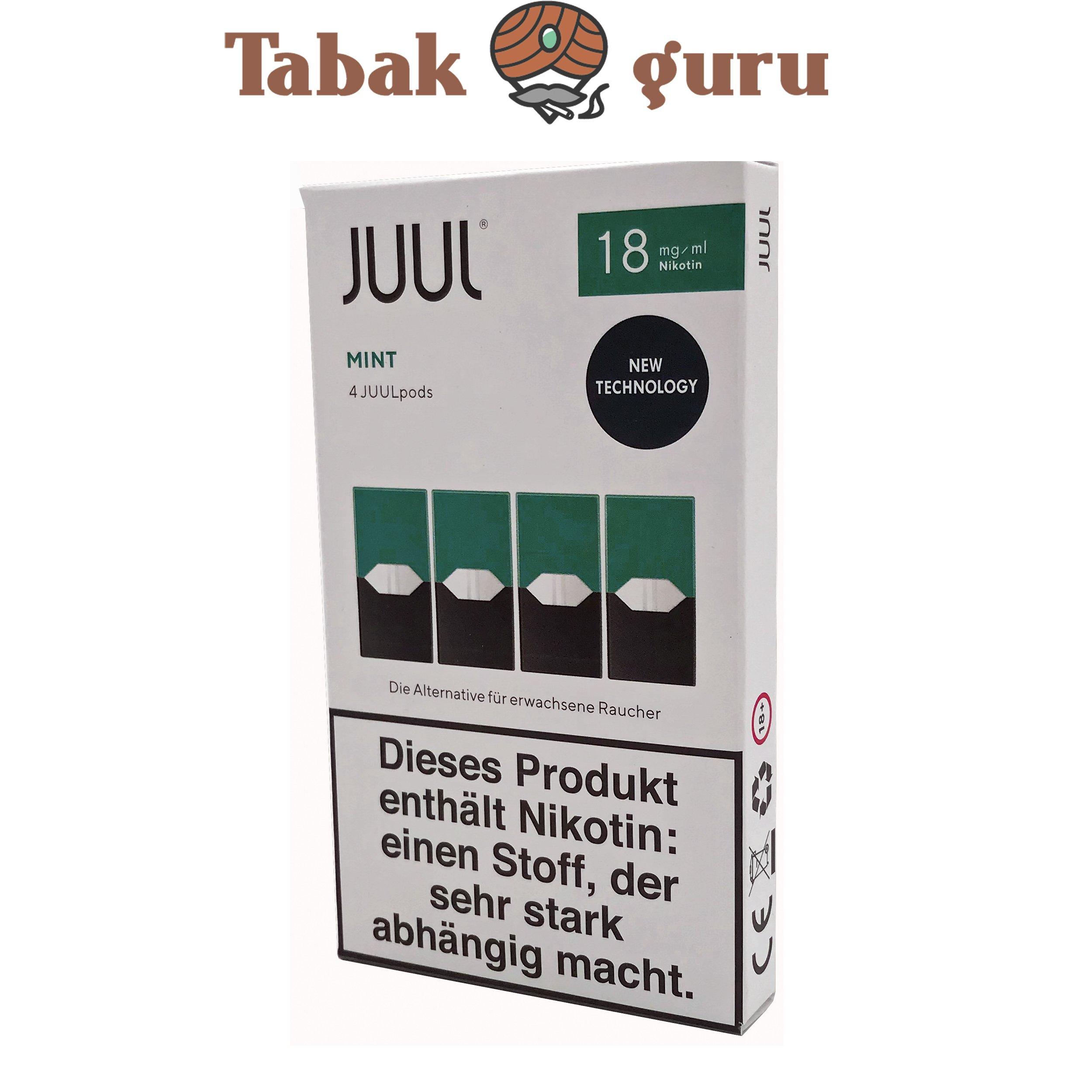 JUUL Mint Pods 18mg/ml á 4 Pods