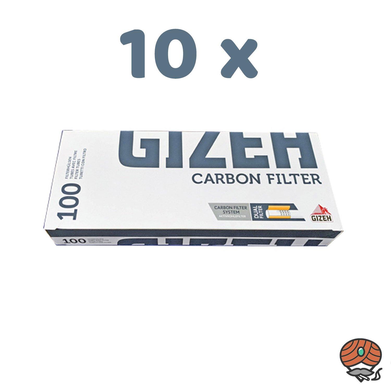 1.000 Gizeh Carbon Filter Filterhülsen = 10 Pack à 100 Stück