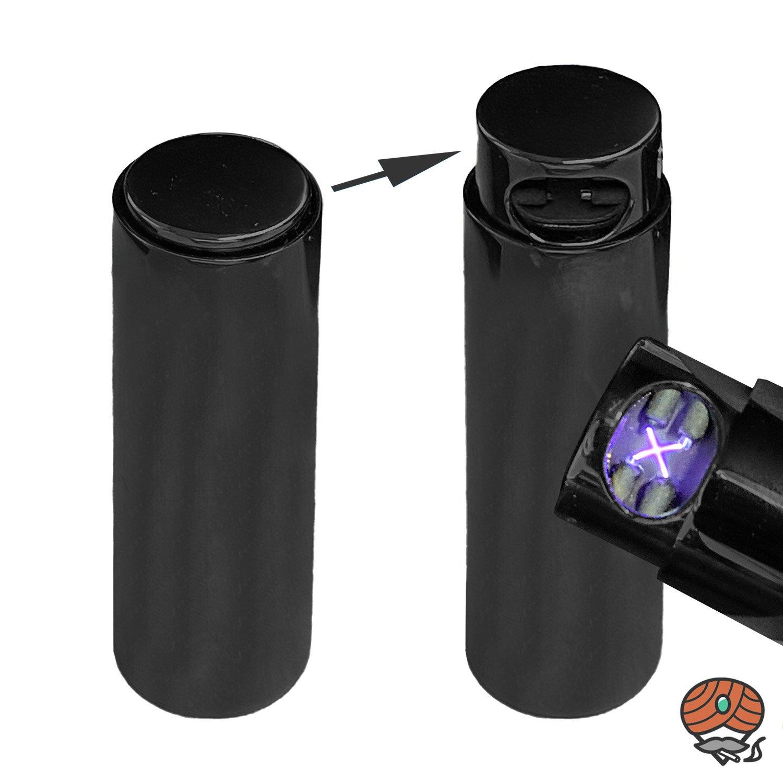 Cozy X-Arc LIPSTICK Feuerzeug mit Lichtbogen-Technik, Schwarz, per USB aufladbar