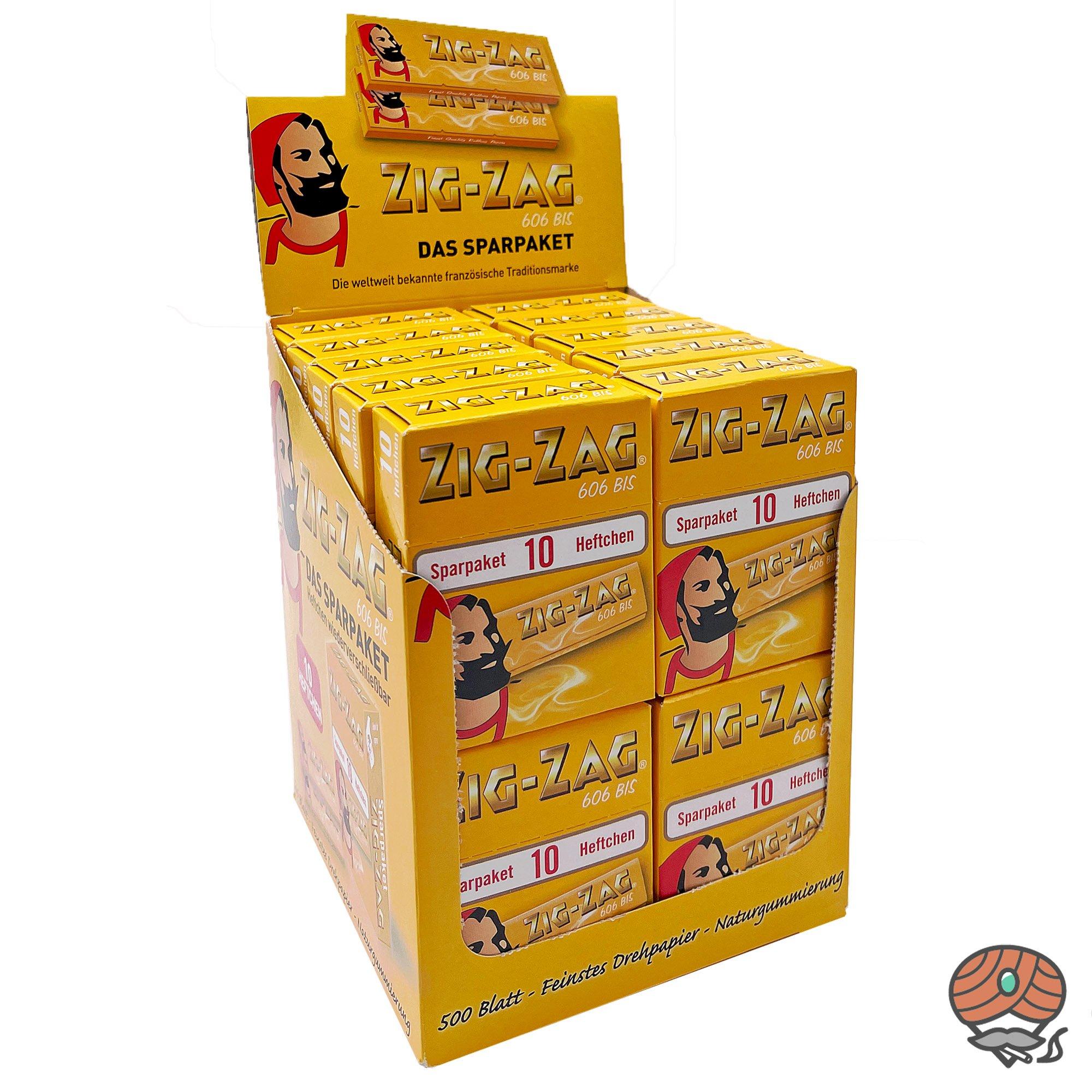 20 x Zig-Zag Gelb im Sparpack Nr.606 Blättchen / Drehpapier à 500 Blatt