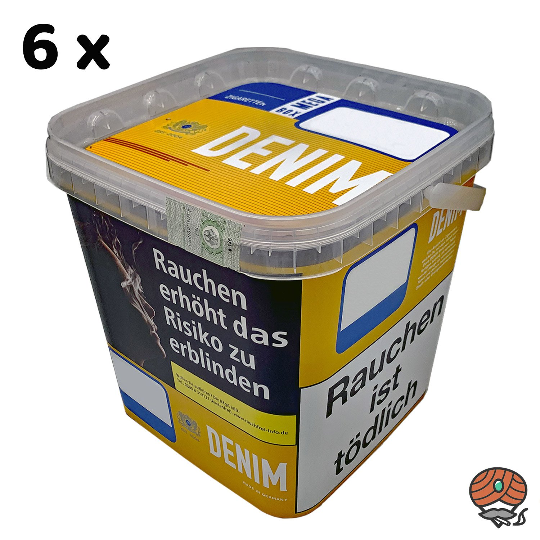 6 x Denim Mega Box Volumentabak 290g Eimer