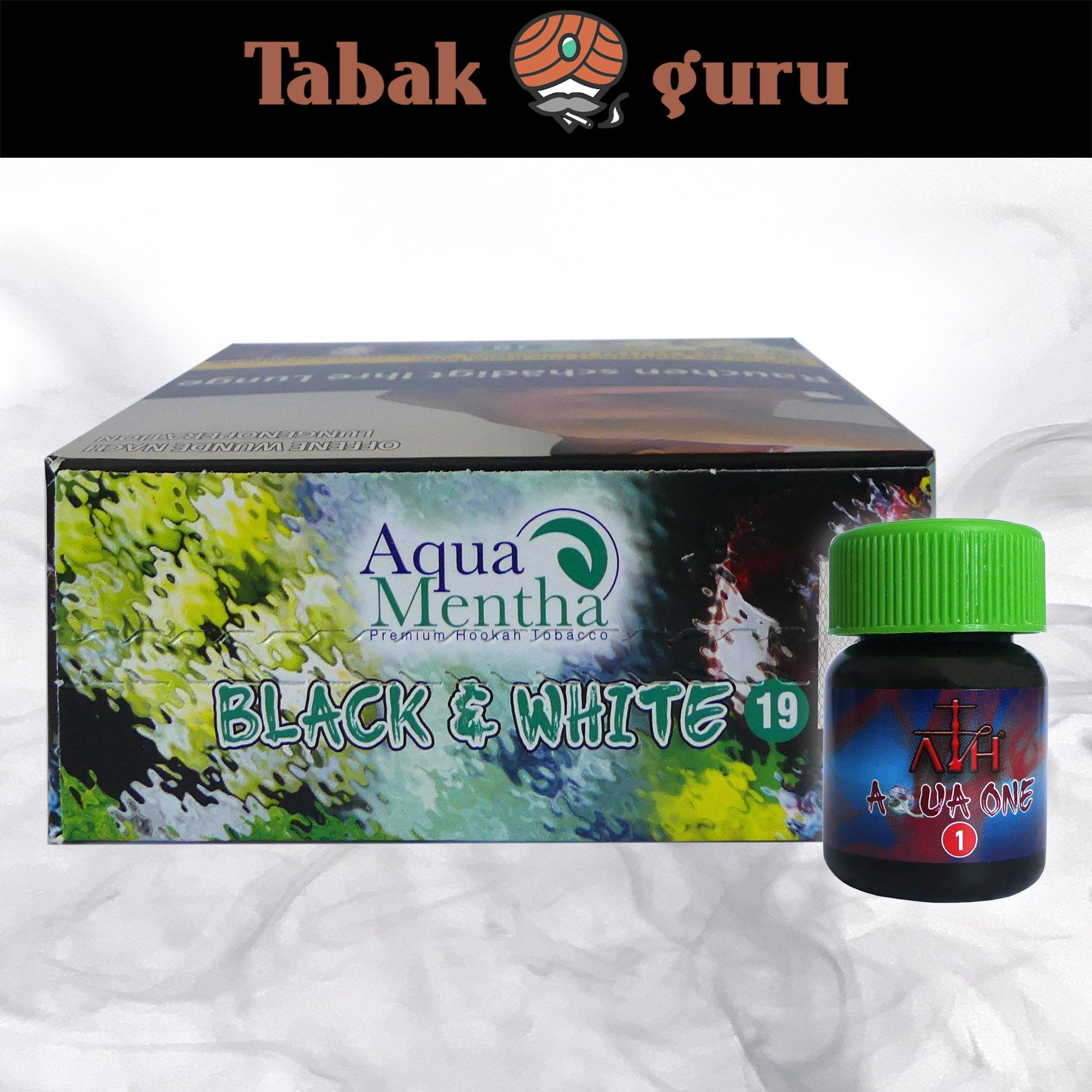 Aqua Mentha BLACK & WHITE #19 200g Shisha Tabak + ATH Aqua One Mix