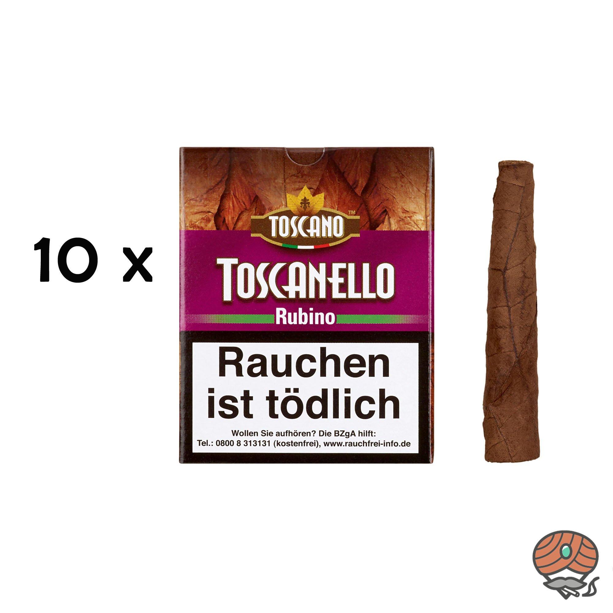 10 x Toscanello Rubino Zigarren (Apfel und Zimt) à 5 Stück