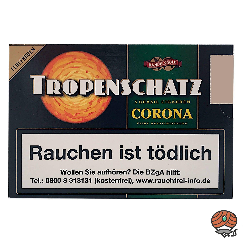 Handelsgold Tropenschatz No. 824 Brasil Corona Zigarren, 5 Stück