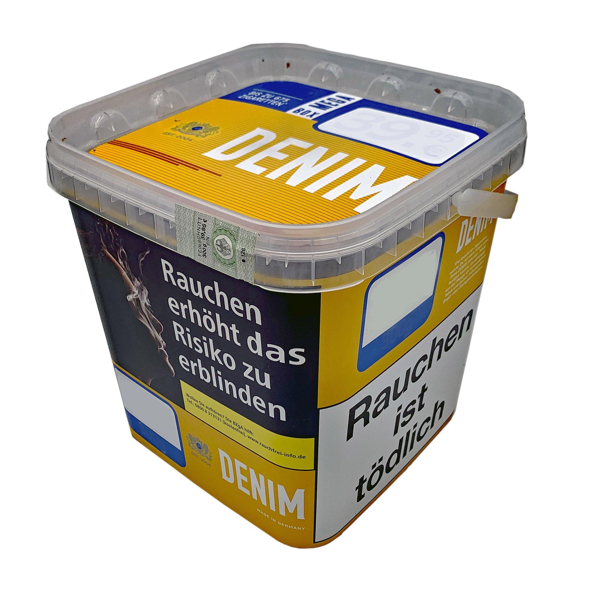 2 x Denim Mega Box Volumentabak 290g Eimer + 1500 Gizeh Extra Hülsen + Zubehör