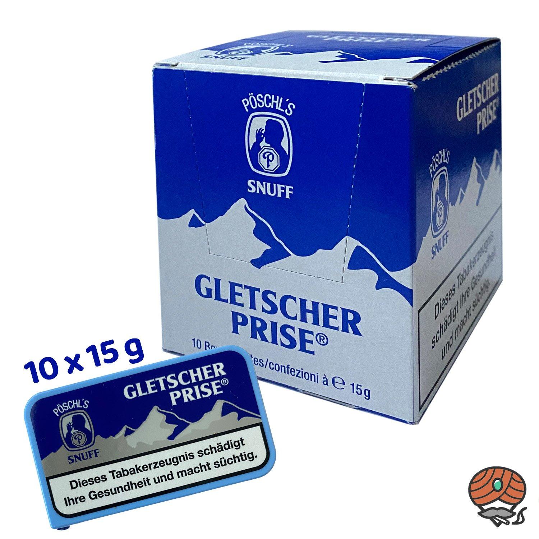 10 x Gletscherprise Snuff Schnupftabak 15g Dose
