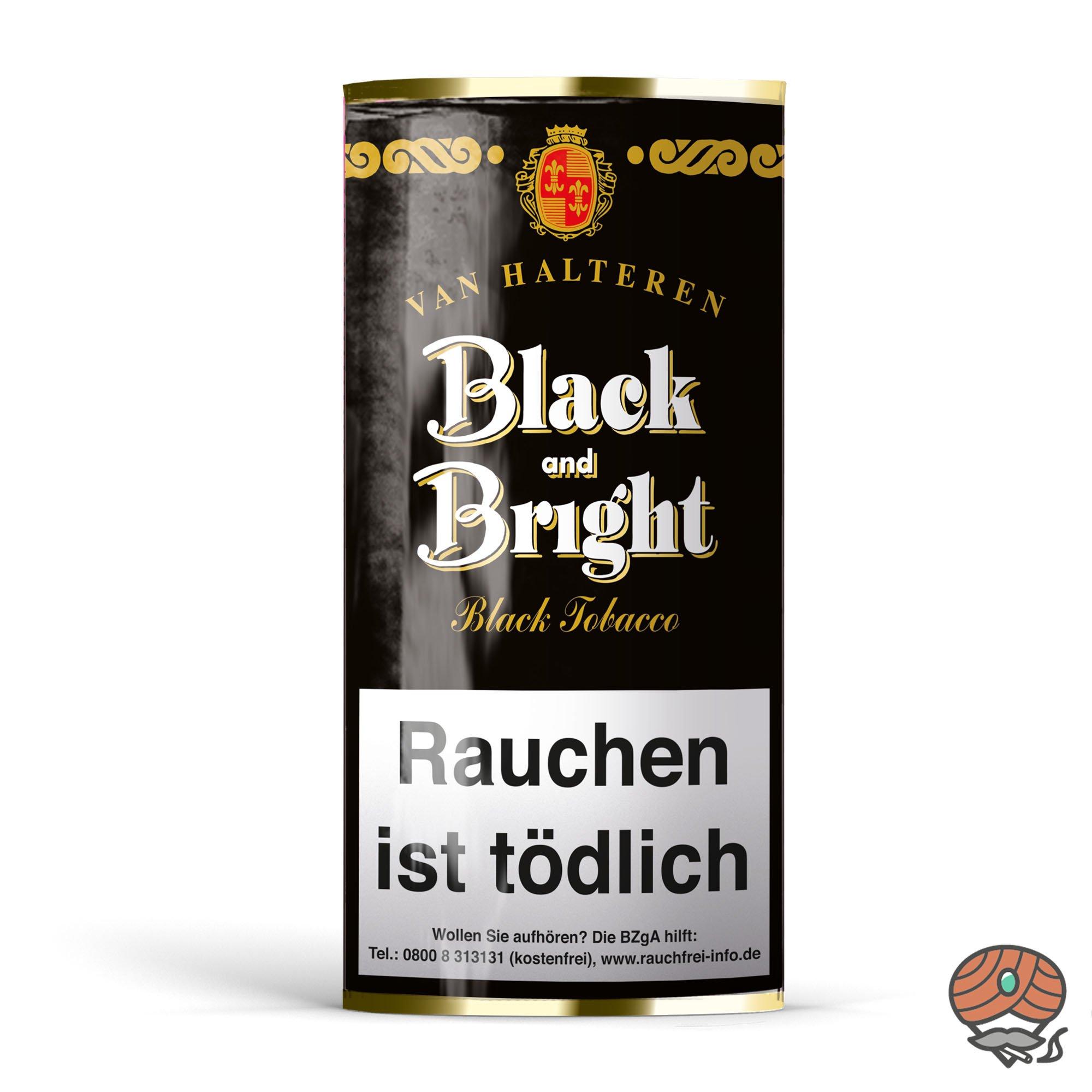 Van Halteren Black and Bright Pfeifentabak 50g Pouch