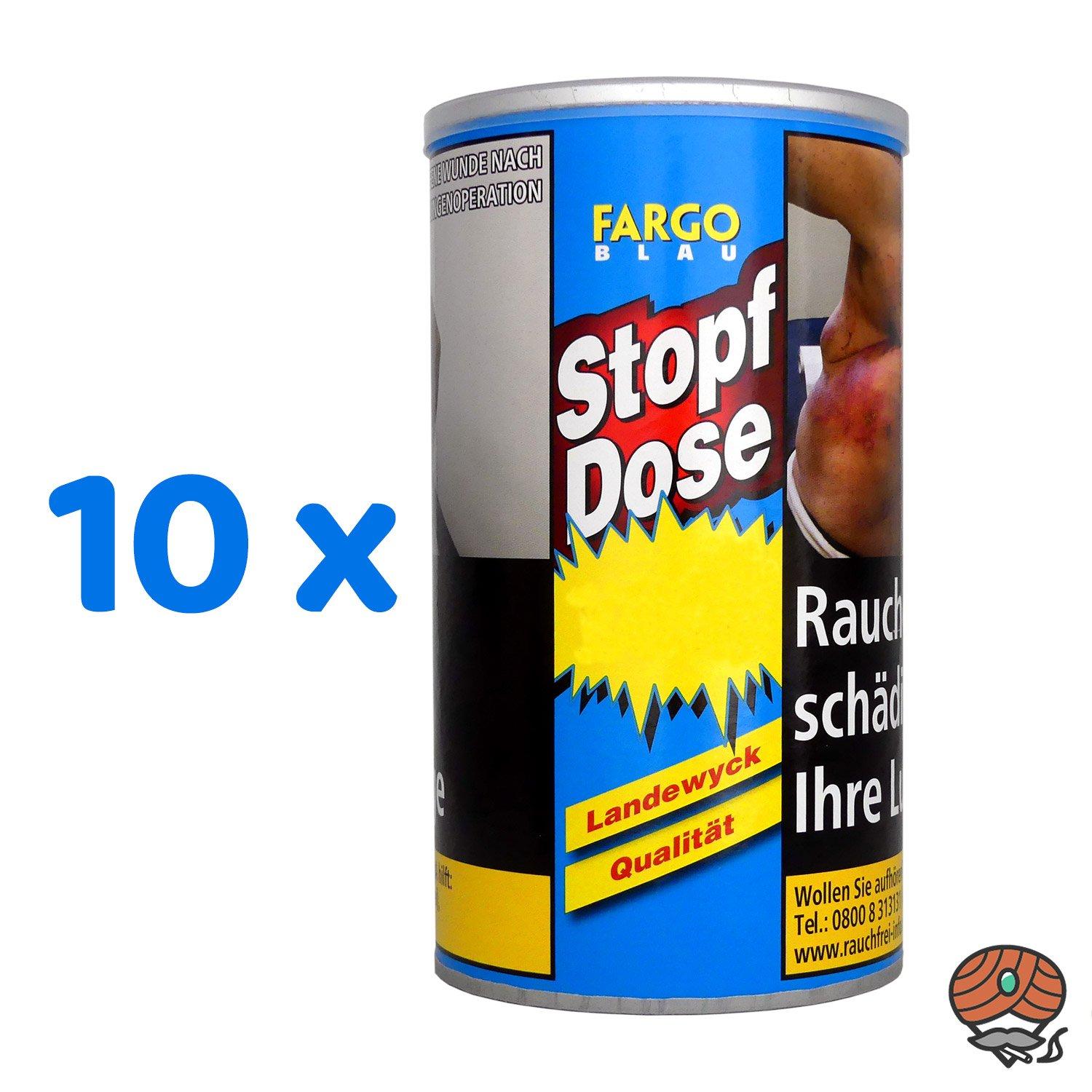 10 x Fargo Blau XXL Stopf-Dose à 140 g Feinschnitt-Tabak