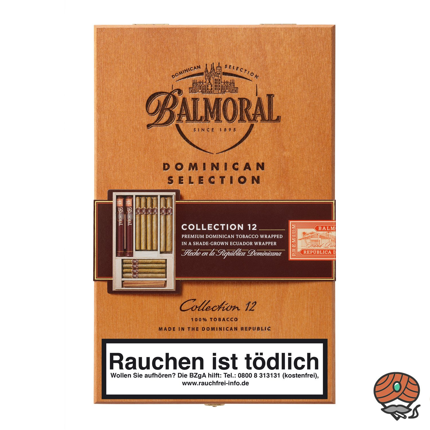 Balmoral Dominican Selection Collection Zigarren, 12 Stück