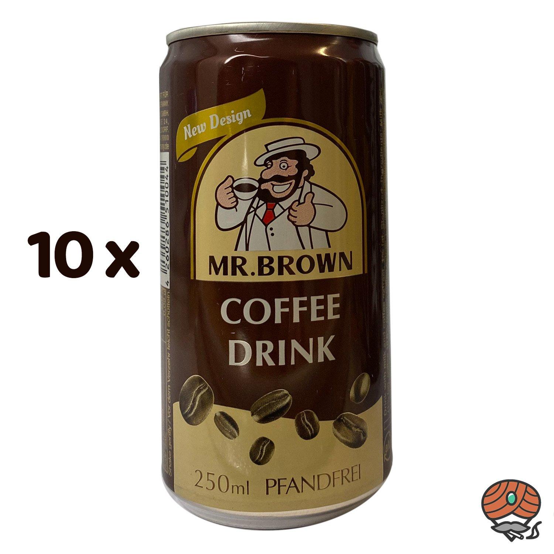 10 x Mr. Brown, Coffee Drink, 250 ml Dose