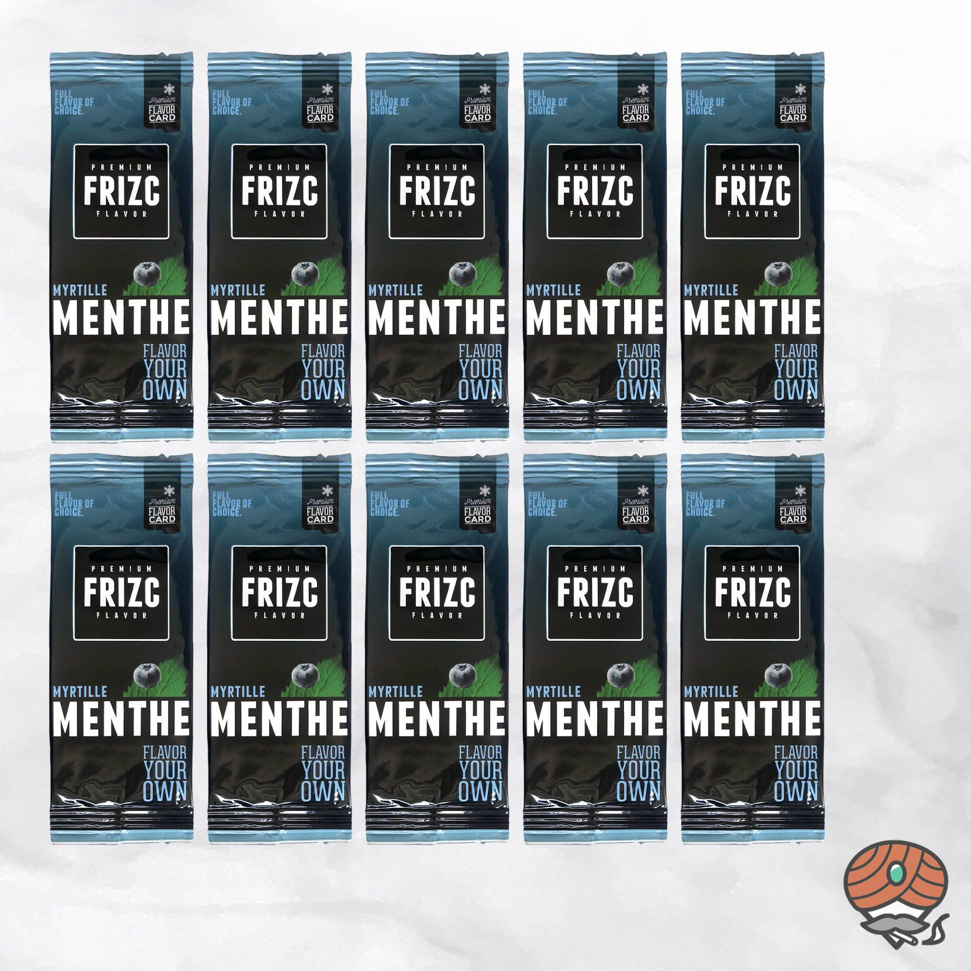 10 x Aromakarte Frizc Menthe & Myrtille (Menthol & Blaubeere) - Premium Flavor Card