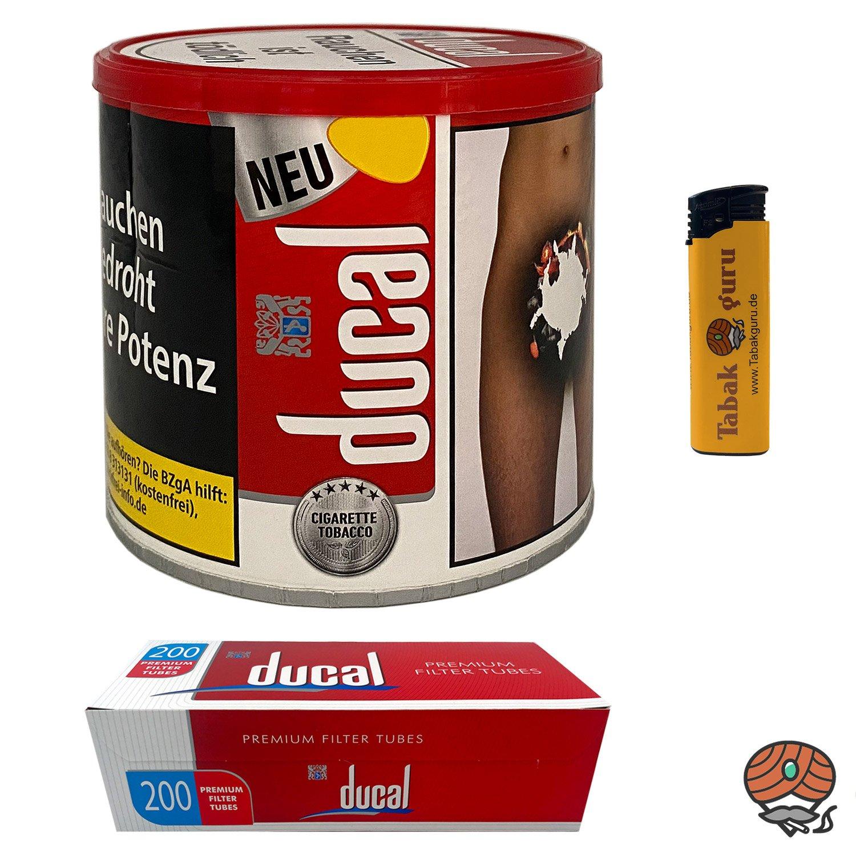 ducal Red Classic Cigarette Tobacco 75 g Dose + ducal Hülsen + Feuerzeug