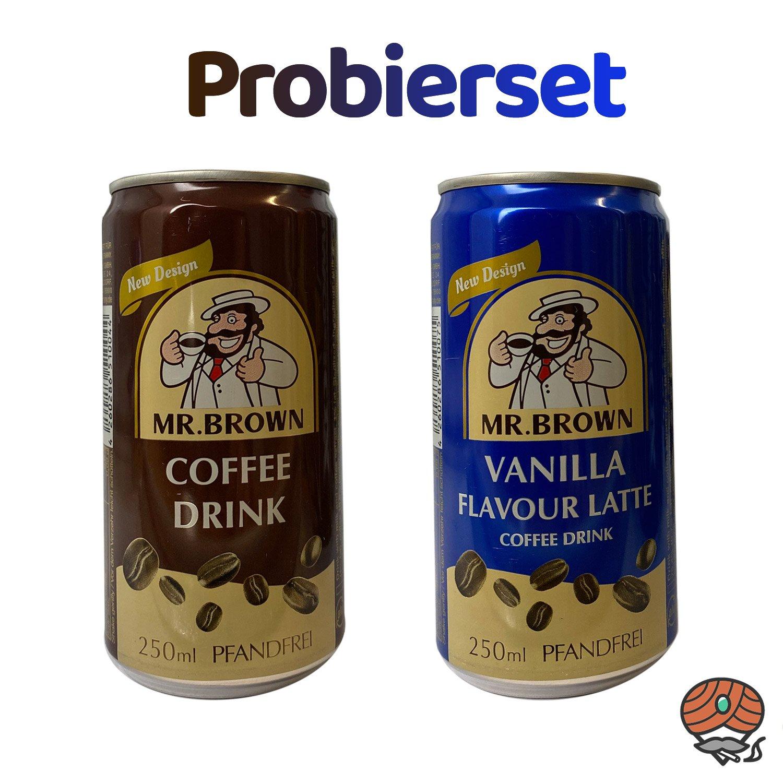 2 x Mr. Brown Kaffeegetränk, 250 ml Dose, PROBIERSET