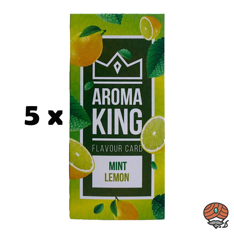 5 x Aromakarte MINT LEMON von Aroma King - Aroma für Tabak & Zigaretten