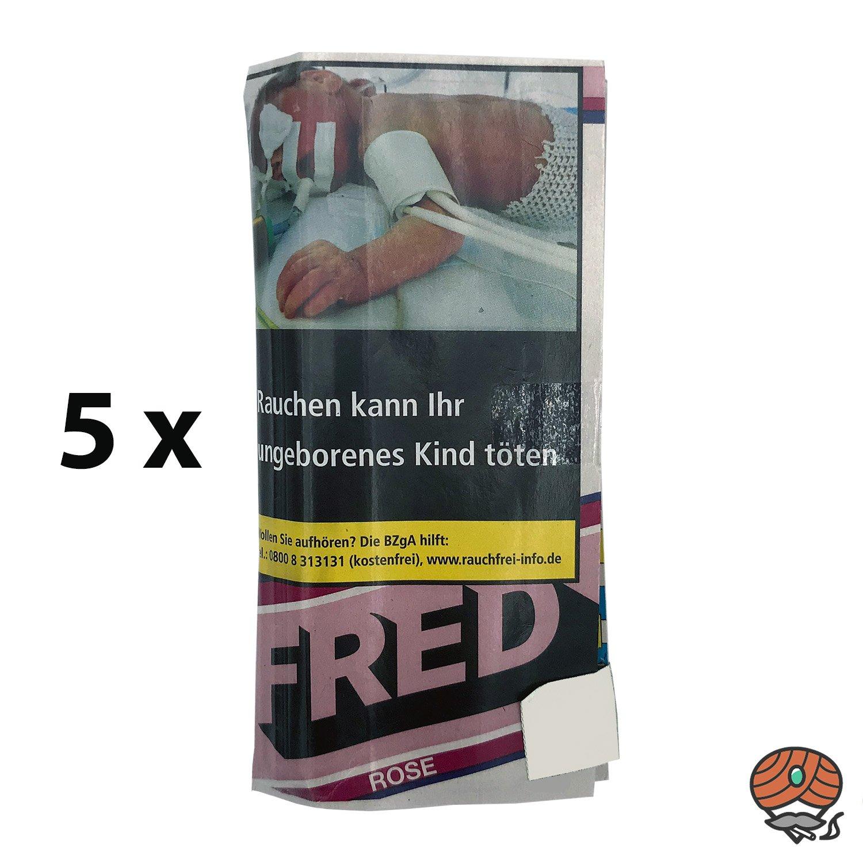 5 x Fred Rose-Heritage Drehtabak 35g Beutel