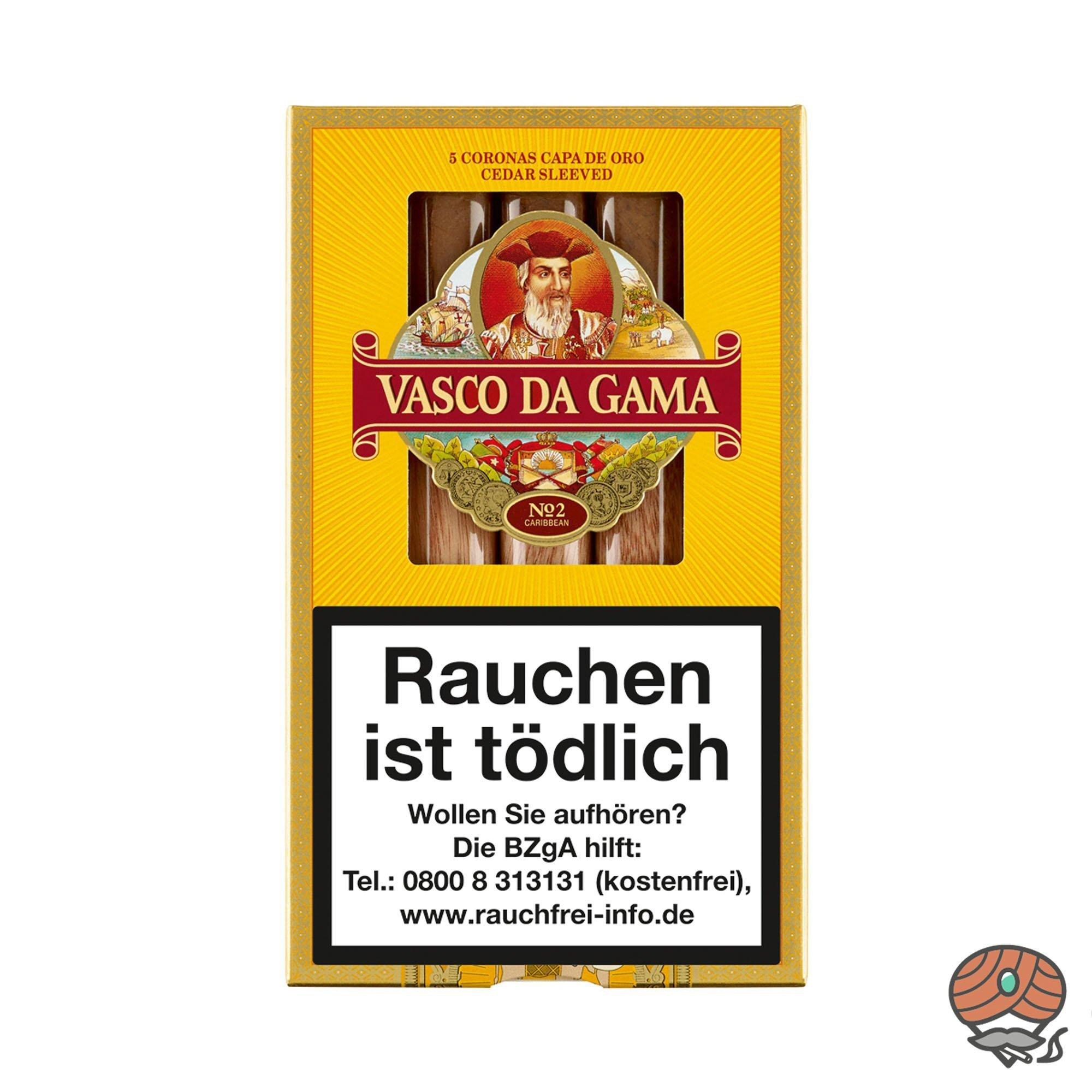 Vasco da Gama Corona Capa de Oro No 2 Caribbean 5 Zigarren
