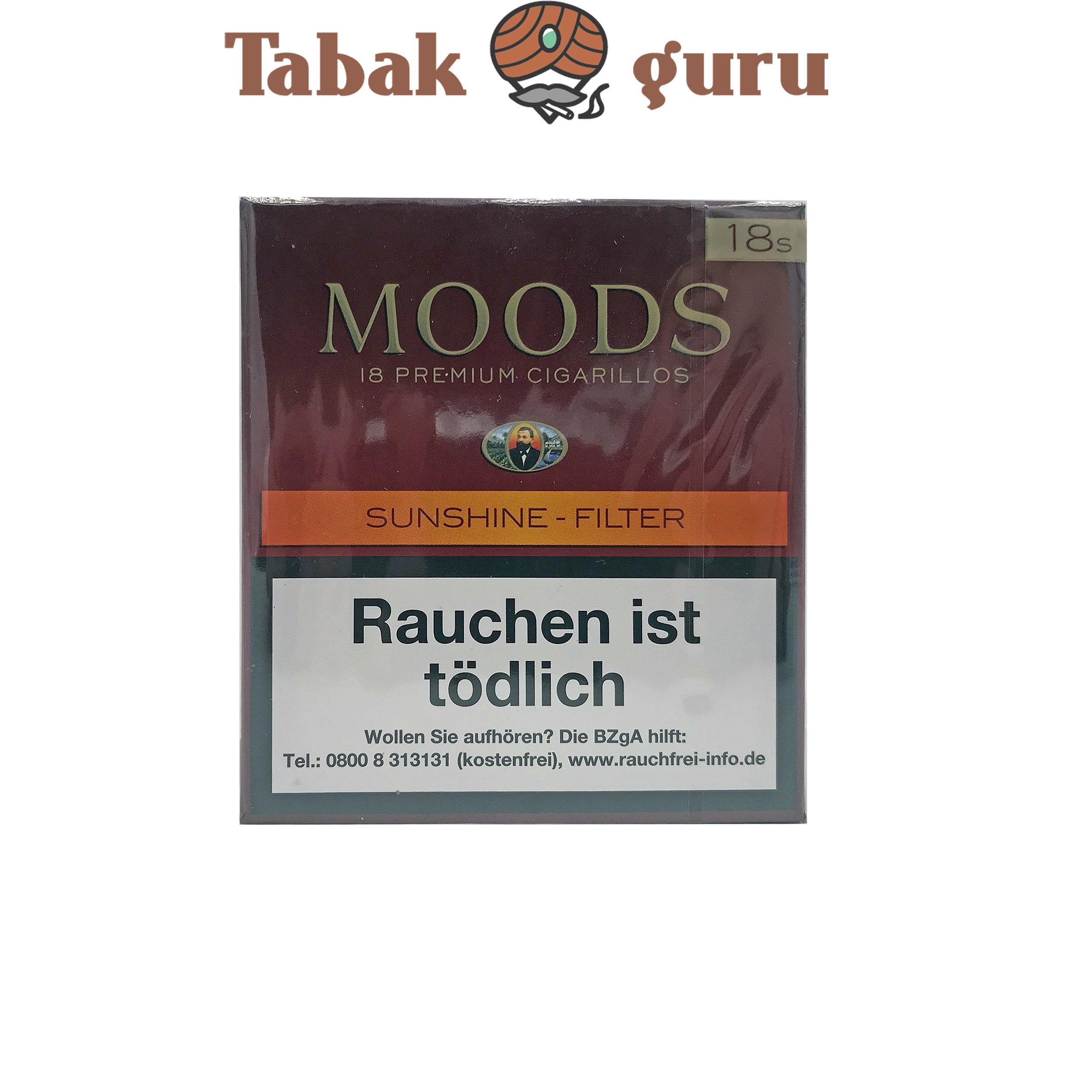Moods Sunshine Filterzigarillos a 18 Stück