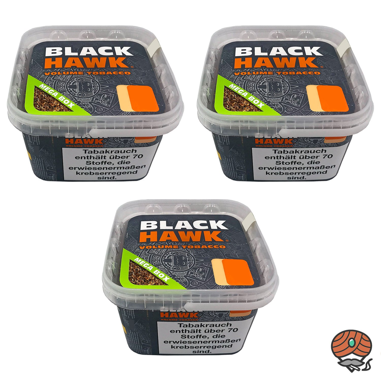 3x Black Hawk Volumentabak Mega Box à 230 g
