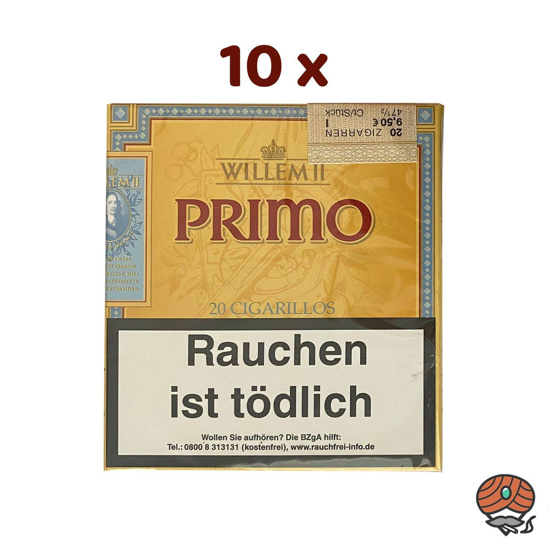 10 x Willem II Primo Zigarillos à 20 Stück
