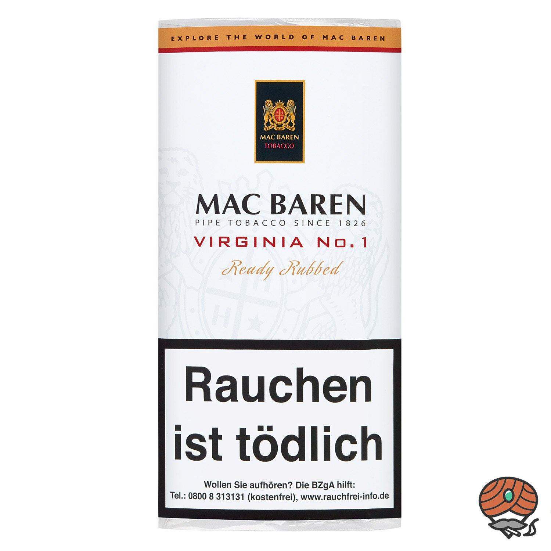 Mac Baren Virginia No. 1 Pfeifentabak 50g Beutel / Pouch
