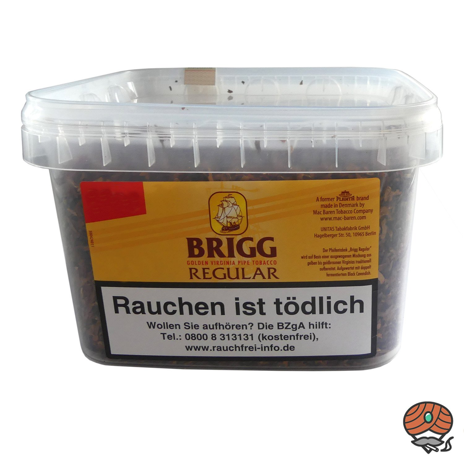 Brigg Regular Pfeifentabak (Golden Virginia Tabak) im 400g Eimer