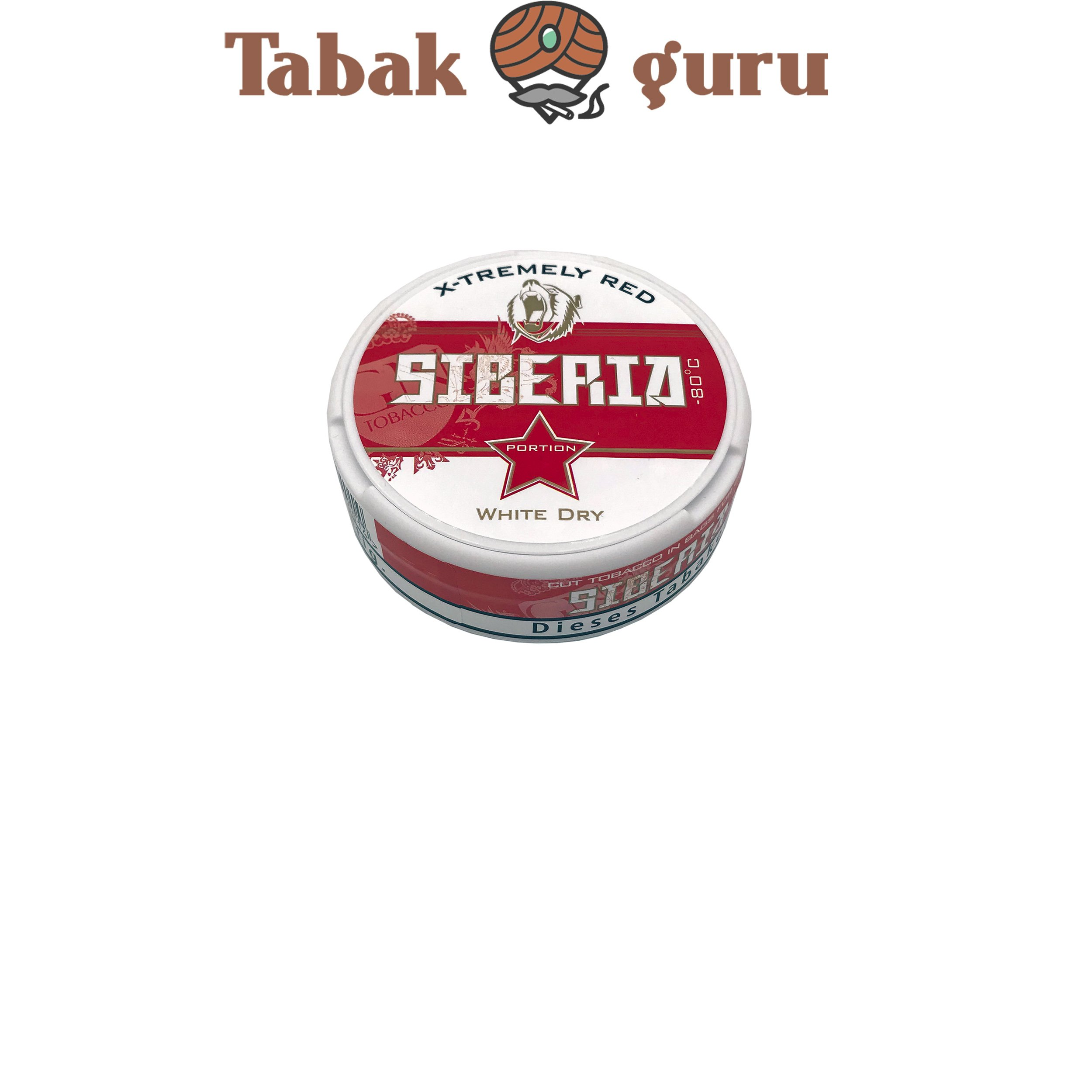 Siberia Extremely Stong White Dry Kautabak, Chewing Bags