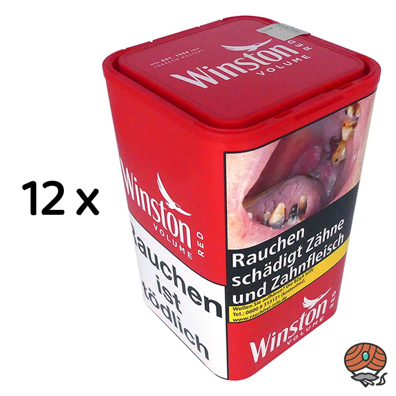 12  x Winston Red XL Volumentabak 96 g Dose