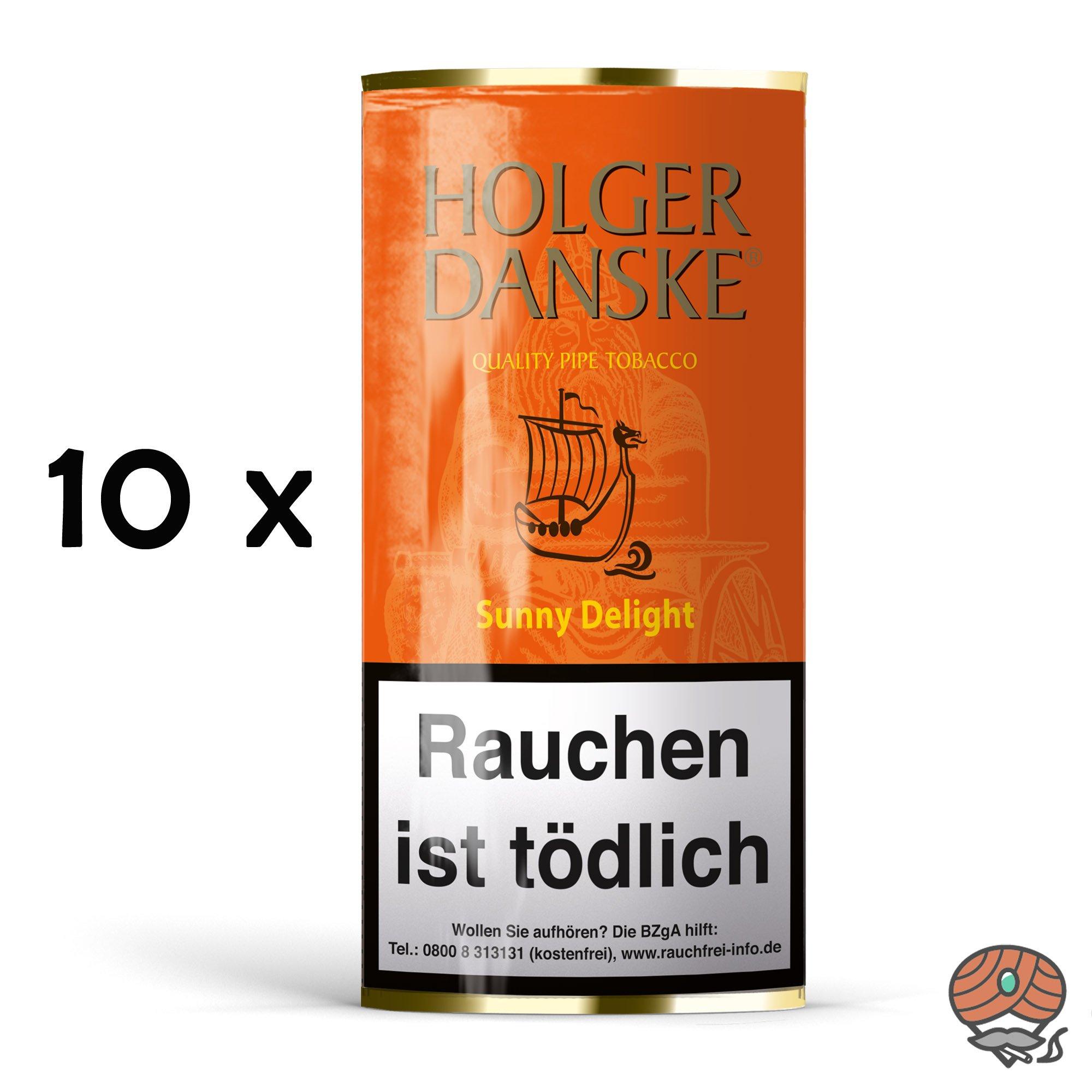 10 x Holger Danske Sunny Delight Pfeifentabak 40g Beutel