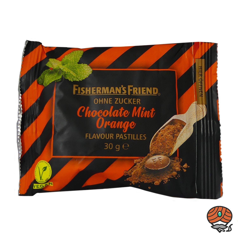 Fisherman`s Friend Chocolate Mint Orange ohne Zucker 20 x 30 g