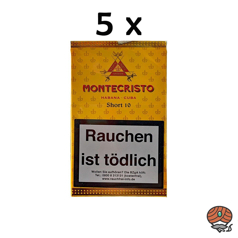 5x Montecristo Short 10 Zigarren / Zigarillos