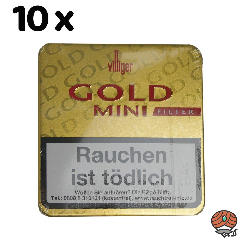 10 x Villiger Gold Mini Filterzigarillos à 20 Stück