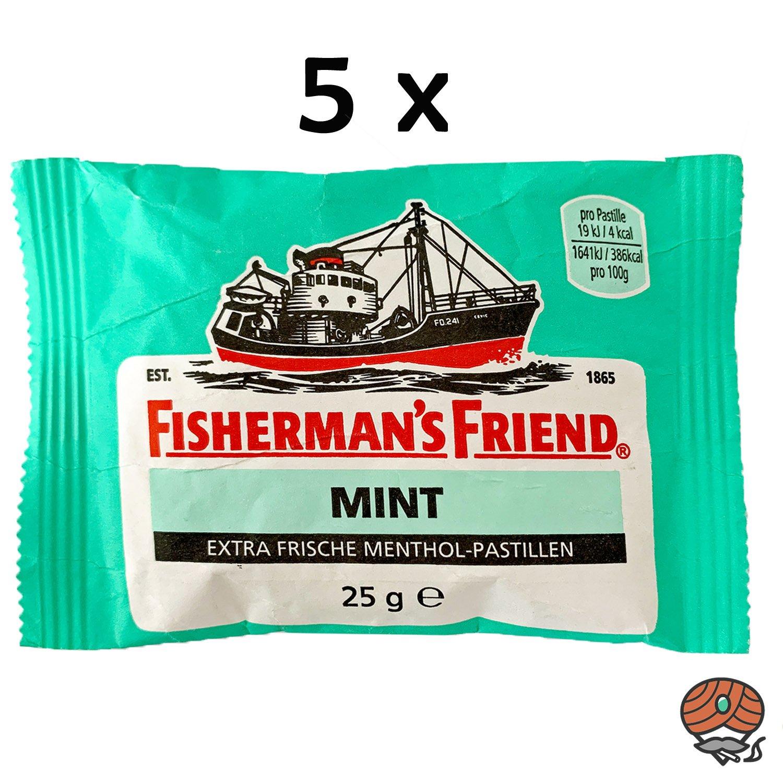 5x Fisherman`s Friend Menthol-Pastillen Mint