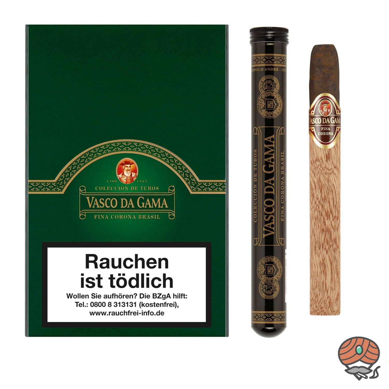 Vasco da Gama Fina Corona Brasil Tubos 100% Tabak 10 Stück