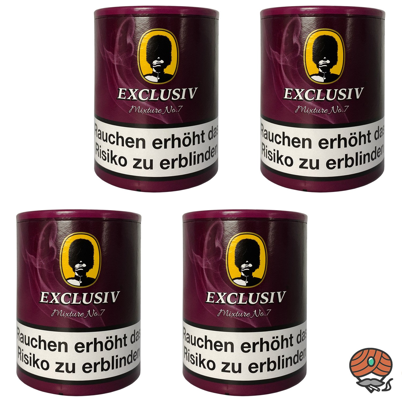 4x EXCLUSIV Mixture No. 7 Pfeifentabak Dose à 200g