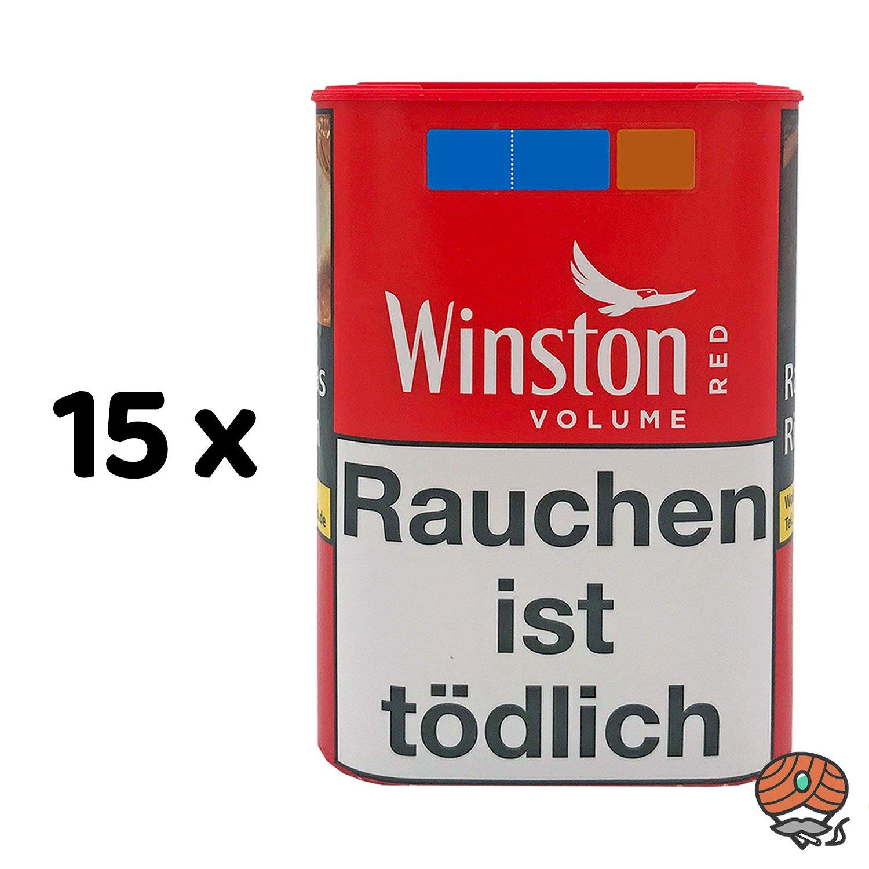 15 x Winston Red Zigarettentabak 42 g Dose