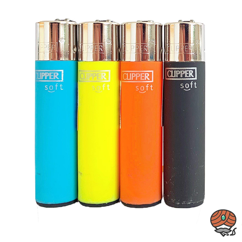 4 Clipper Soft-Touch Reibradfeuerzeug